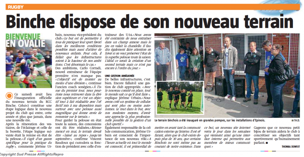Nouvelle Gazette 16/09/2014