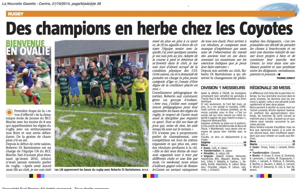 Nouvellez Gazette 21/10/2014